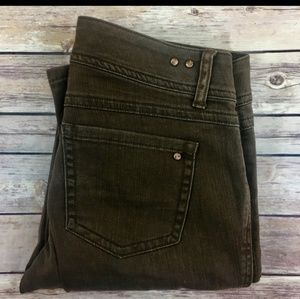 CAbi Straight Leg Brown Jeans